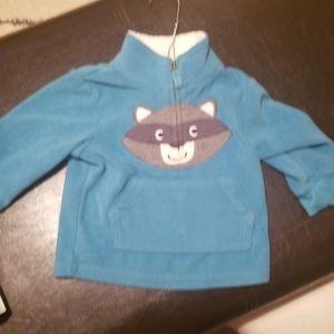 Fleece sweatshirt racoon 12m